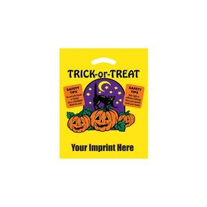 Halloween Stock Design Yellow Die Cut Bag � Trick-or-Treat (12