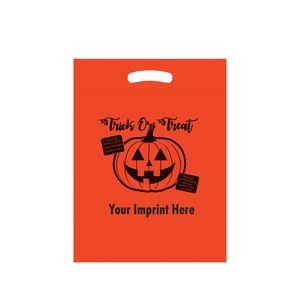 Halloween Stock Design Orange Die Cut Bag � Trick or Treat