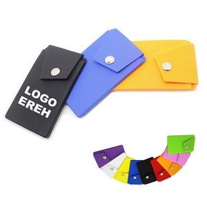 Silicone Card Wallet With Phone Stand
