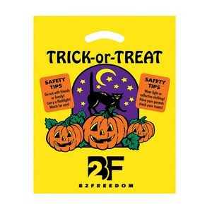 Trick-or-Treat Plastic Halloween Bags (12